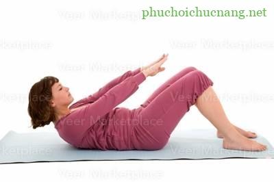 Bài tập vật lý trị liệu - Tập mạnh cơ bụng