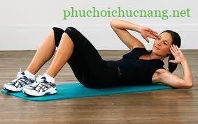 Bài tập vật lý trị liệu - Tập mạnh cơ chéo bụng