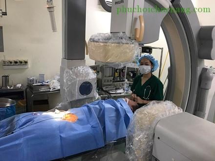 Hình ảnh bệnh nhân sau can thiệp (Ảnh: BS chia sẻ)