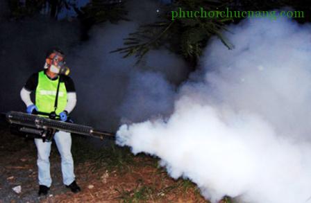 Thành phố triển khai thí điểm phun mù nhiệt để diệt muỗi